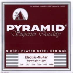 Pyramid electric guitar nickel plated steel