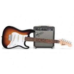 Guitare Fender Squier gaucher avec ampli Frontman