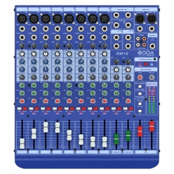 Table de mixage Midas DM12 TABLE DE MIXAGE (8MONO + 2STEREO)