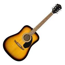 Guitare acoustique Fender FA-125 Sunburst avec pochette